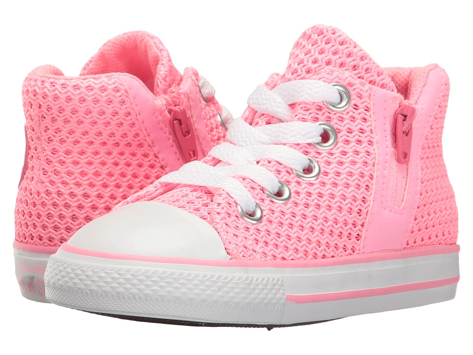Converse Kids - Chuck Taylor All Star Sport Zip Hi (Infant/Toddler) (Pink Glow/Neo Pink/White) Girl's Shoes