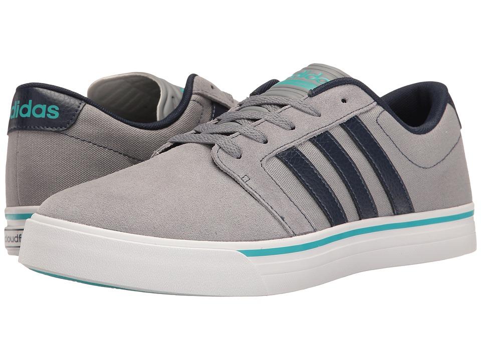 adidas - Cloudfoam Super Skate (Grey/Navy/Energy Blue) Men's Skate Shoes
