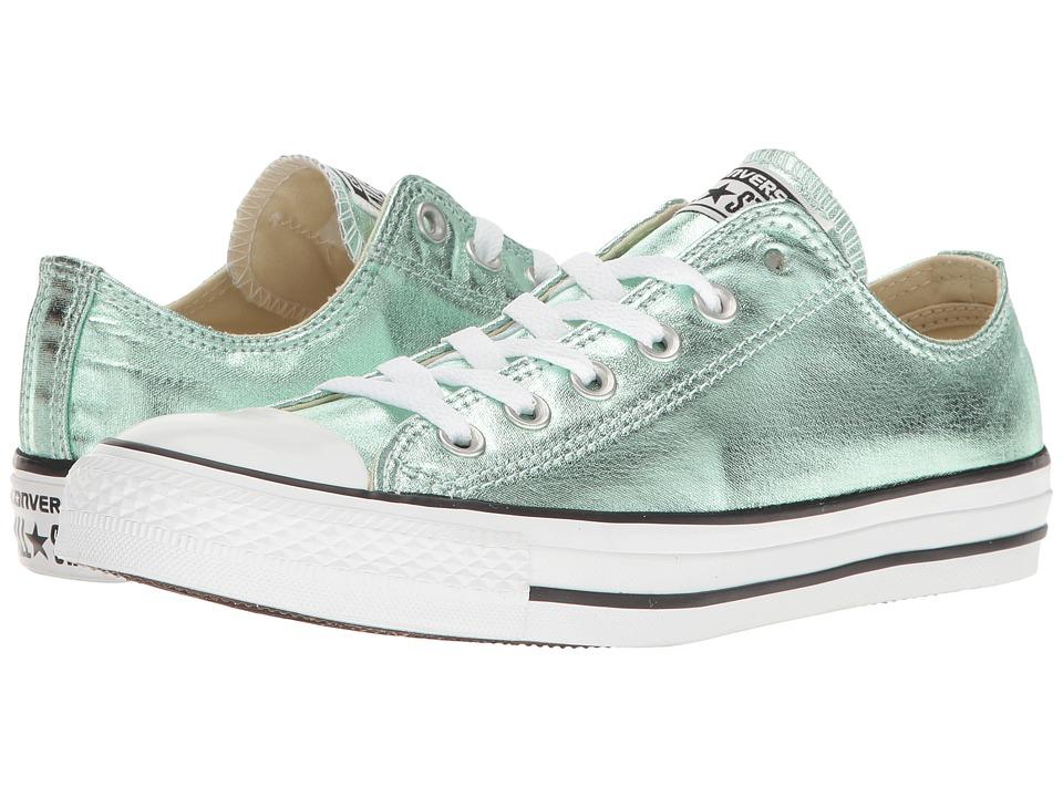 Converse - Chuck Taylor(r) All Star(r) Seasonal Metallics Ox (Jade/Black/White) Women's Classic Shoes