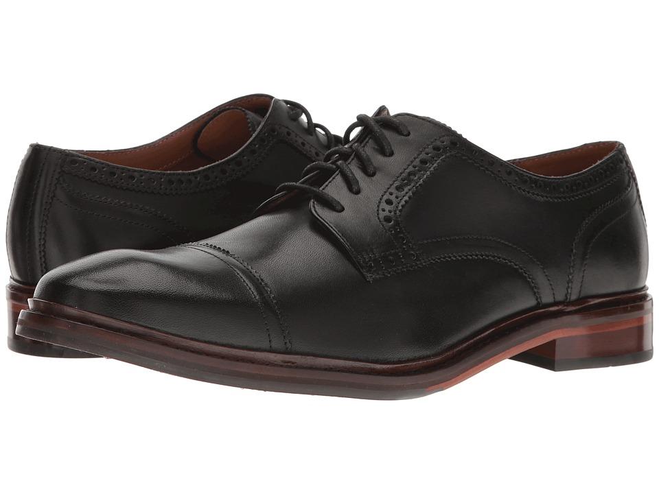 Cole Haan - William Welt Cap Toe II (Black Handstain Leather) Men's Shoes