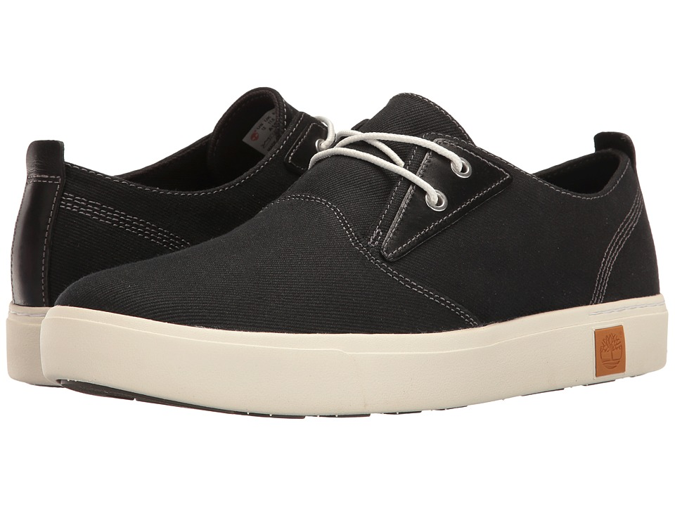 Timberland - Amherst Plain Toe Canvas Oxford (Black Canvas) Men's Lace up casual Shoes
