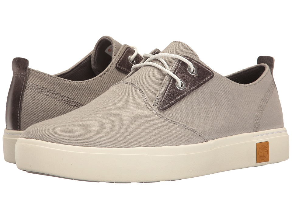 Timberland - Amherst Plain Toe Canvas Oxford (Medium Grey Canvas) Men's Lace up casual Shoes
