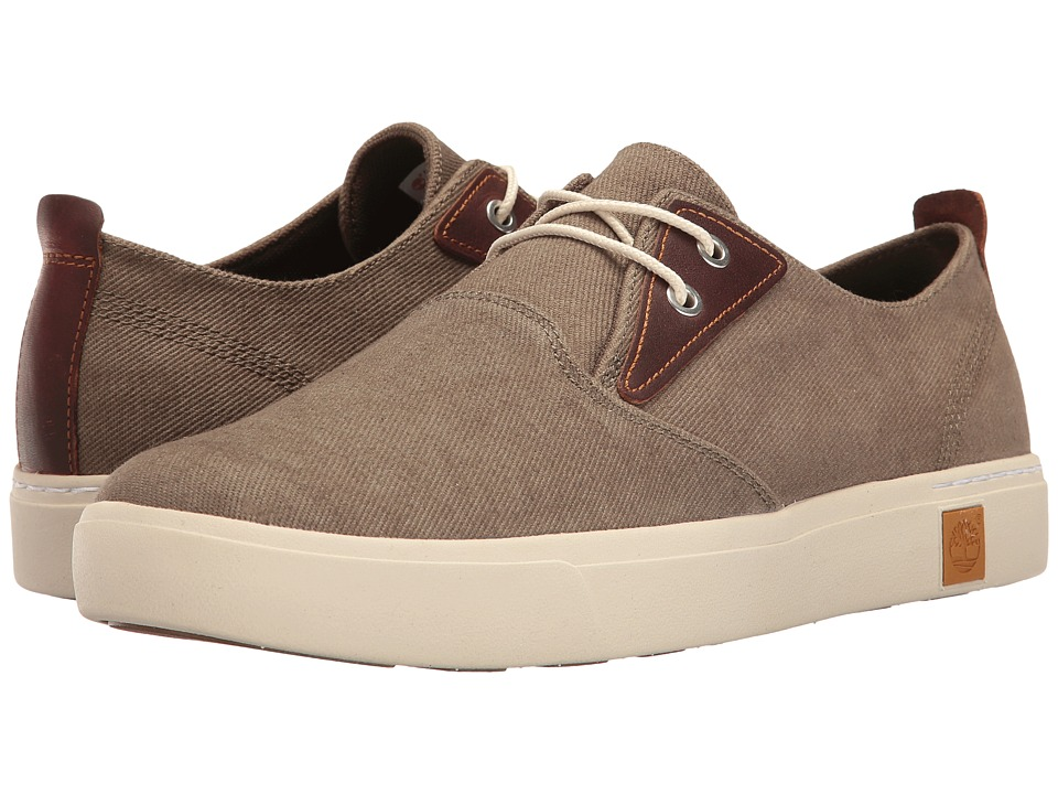 Timberland - Amherst Plain Toe Canvas Oxford (Olive Canvas) Men's Lace up casual Shoes