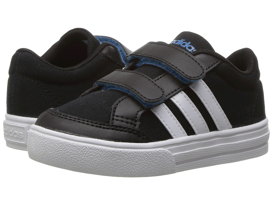 adidas Kids - VS Set CMF (Infant/Toddler) (Black/White/Blue) Kids Shoes