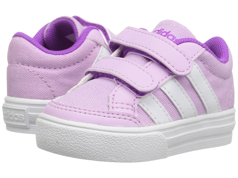 adidas Kids - VS Set CMF (Infant/Toddler) (Light Orchid/White/Purple) Kids Shoes