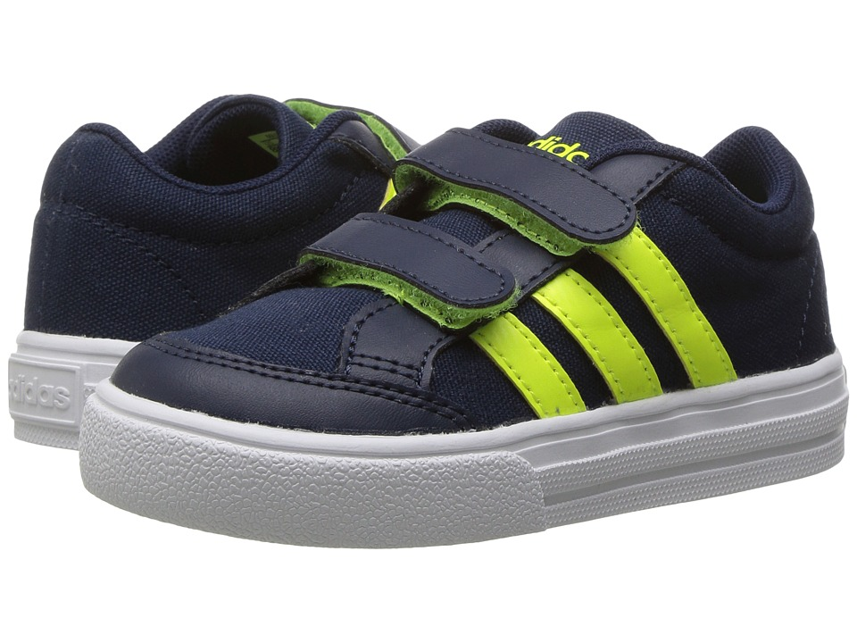 adidas Kids - VS Set CMF (Infant/Toddler) (Navy/Solar Yellow/White) Kids Shoes