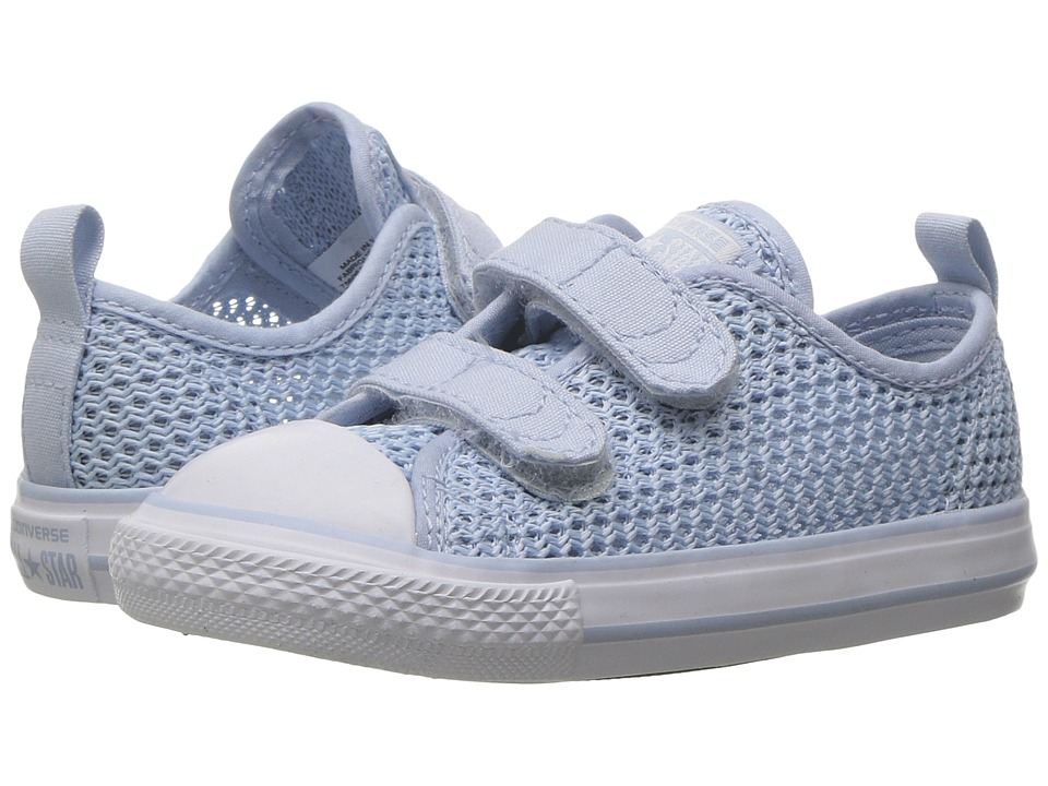 Converse Kids - Chuck Taylor All Star Ox 2V (Infant/Toddler) (Porpoise/Porpoise/White) Girl's Shoes