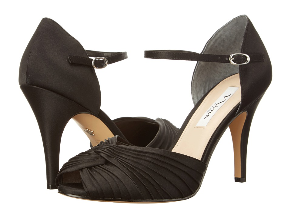 Nina Ruby (Black Luster Satin) Women
