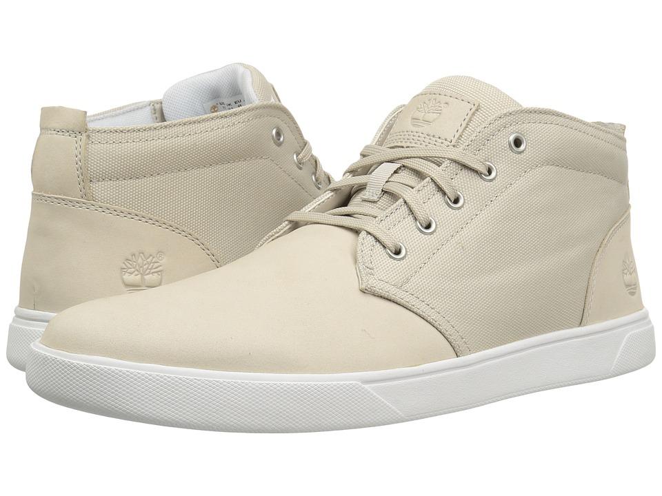 Timberland - Groveton Leather and Fabric Chukka (White Nubuck) Men's Shoes
