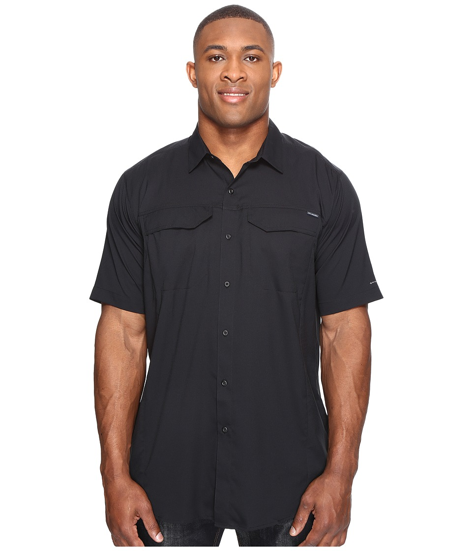 Columbia - Big Tall Silver Ridge Lite Short Sleeve Shirt (Black) Men's Short Sleeve Button Up