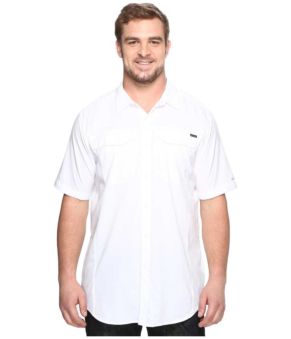 Columbia - Big Tall Silver Ridge Lite Short Sleeve Shirt (White) Men's Short Sleeve Button Up