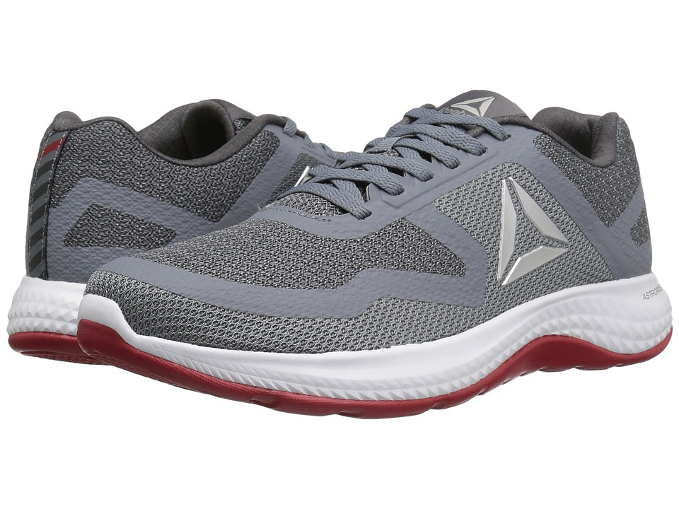 Reebok Astroride 2D (Asteroid Dust/Ash Grey/Silver Metallic/White/Canyon Red)  Men's Running Shoes