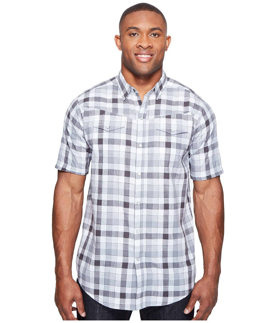 Columbia - Big Tall Leadville Ridge Short Sleeve Shirt (Black Check) Men's Short Sleeve Button Up