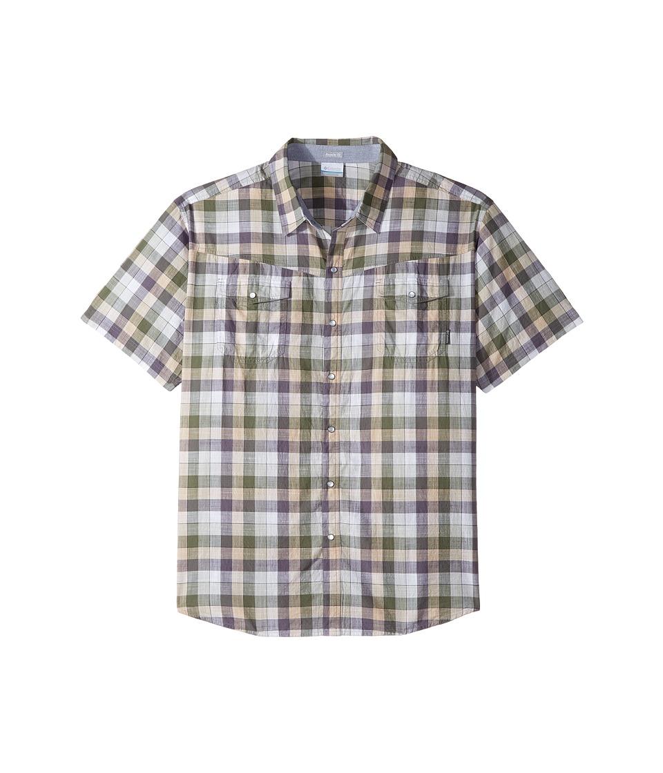 Columbia - Big Tall Leadville Ridge Short Sleeve Shirt (Granite Check) Men's Short Sleeve Button Up