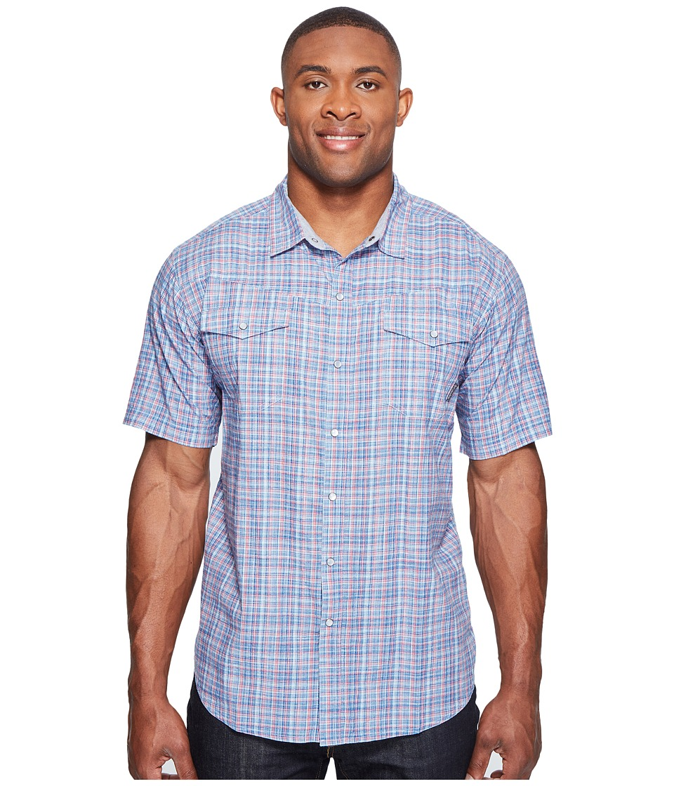 Columbia - Big Tall Leadville Ridge Short Sleeve Shirt (Marine Blue Plaid) Men's Short Sleeve Button Up