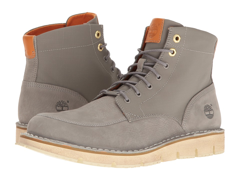 Timberland - Westmore Leather Fabric Boot (Medium Grey Nubuck/Canvas) Men's Lace-up Boots