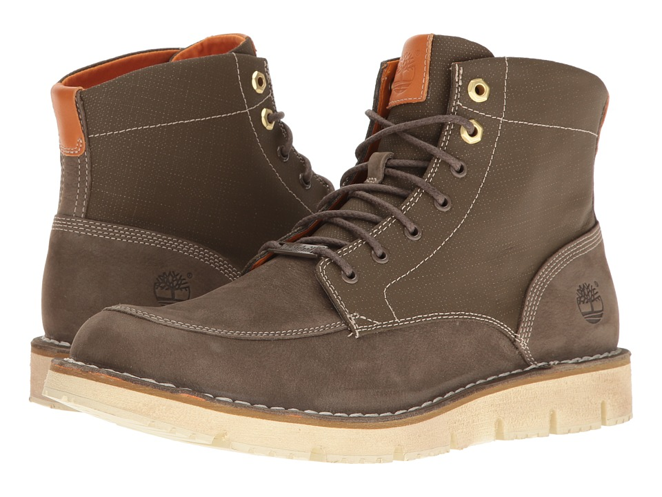 Timberland Westmore Leather Fabric Boot (Olive Nubuck/Canvas) Men