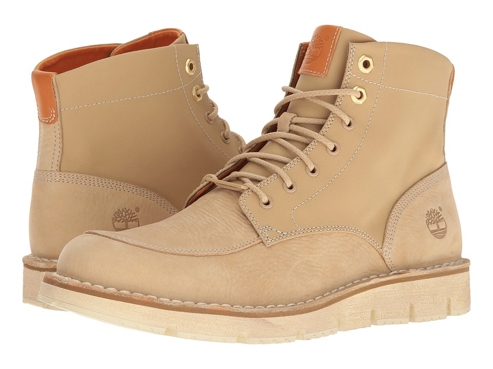 Timberland - Westmore Leather Fabric Boot (Light Beige Nubuck/Canvas) Men's Lace-up Boots