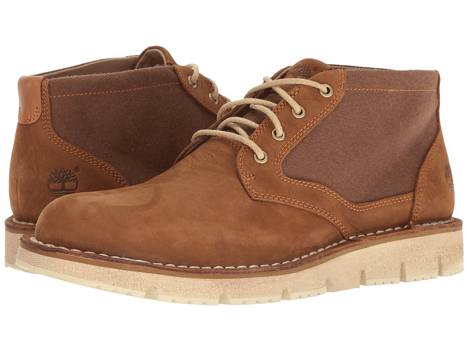Timberland - Westmore Leather Fabric Chukka (Medium Brown Nubuck/Canvas) Men's Shoes