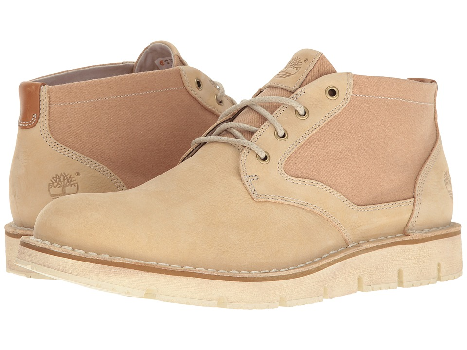 Timberland Westmore Leather Fabric Chukka (Light Beige Nubuck/Canvas) Men