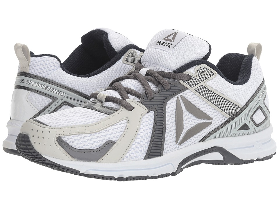Reebok - Runner (White/Skull Grey/Shark/Navy/Pewter) Men's Running Shoes