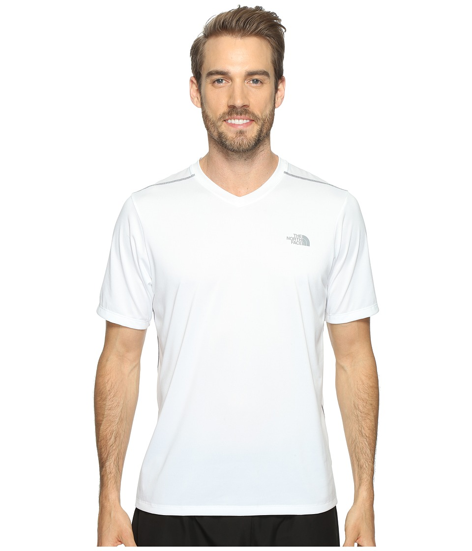 The North Face Reactor Short Sleeve V-Neck (TNF White (Prior Season)) Men