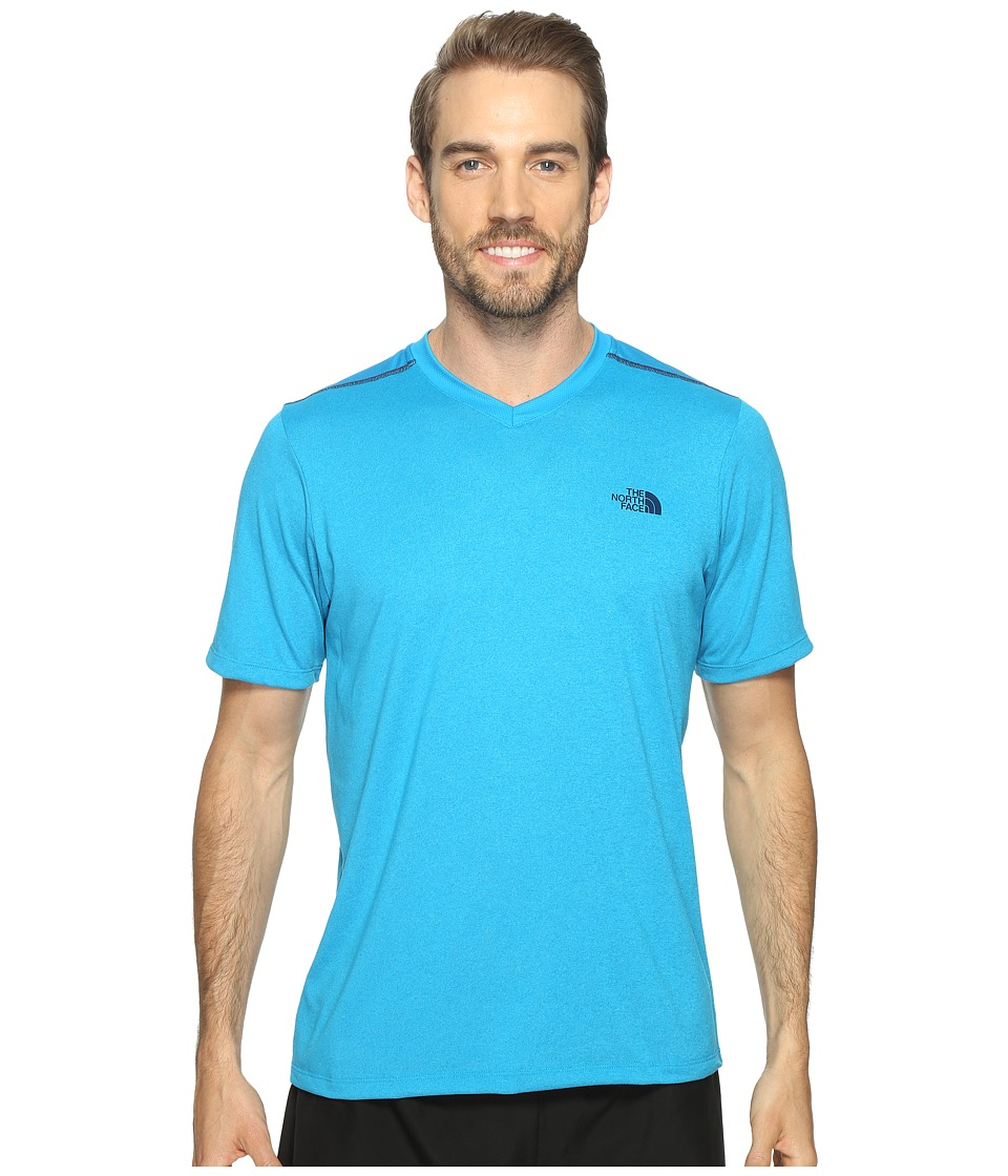 The North Face Reactor Short Sleeve V-Neck (Hyper Blue Heather (Prior Season)) Men