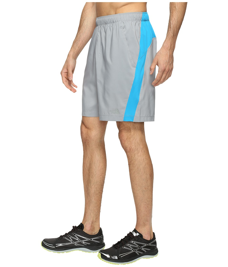 The North Face - Reactor Shorts (Mid Grey Heather/Hyper Blue (Prior Season)) Men's Shorts