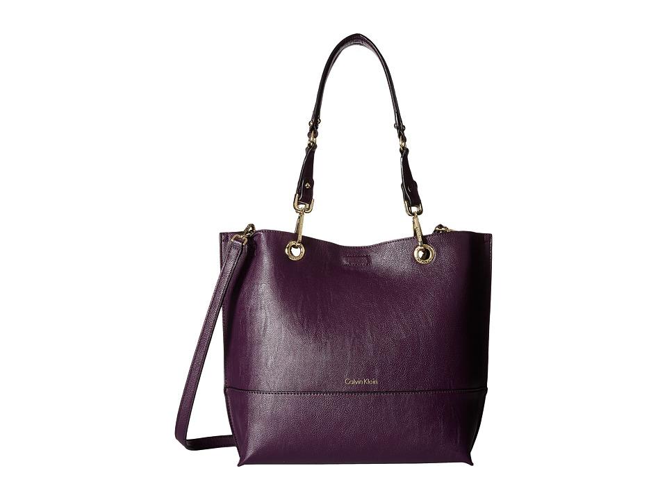 Calvin Klein - Sonoma Pebble Tote (Acai/Black) Tote Handbags