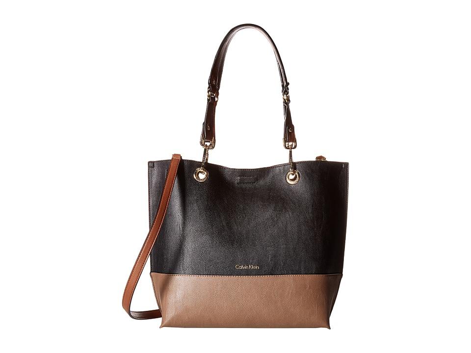 Calvin Klein - Sonoma Pebble Tote (Dark Taupe Combo) Tote Handbags