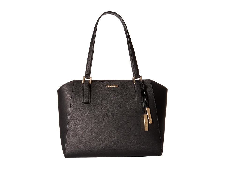 Calvin Klein - Key Items Saffiano Tote (Black/Gold) Tote Handbags