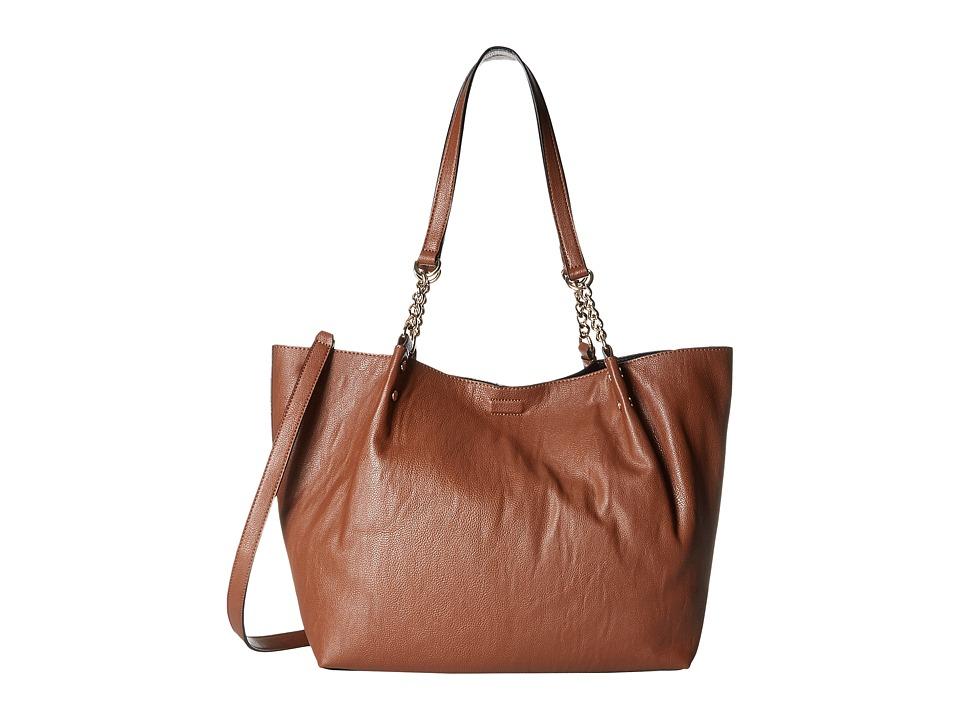 Calvin Klein - Reversibles Pebble Tote (Luggage/Black) Tote Handbags