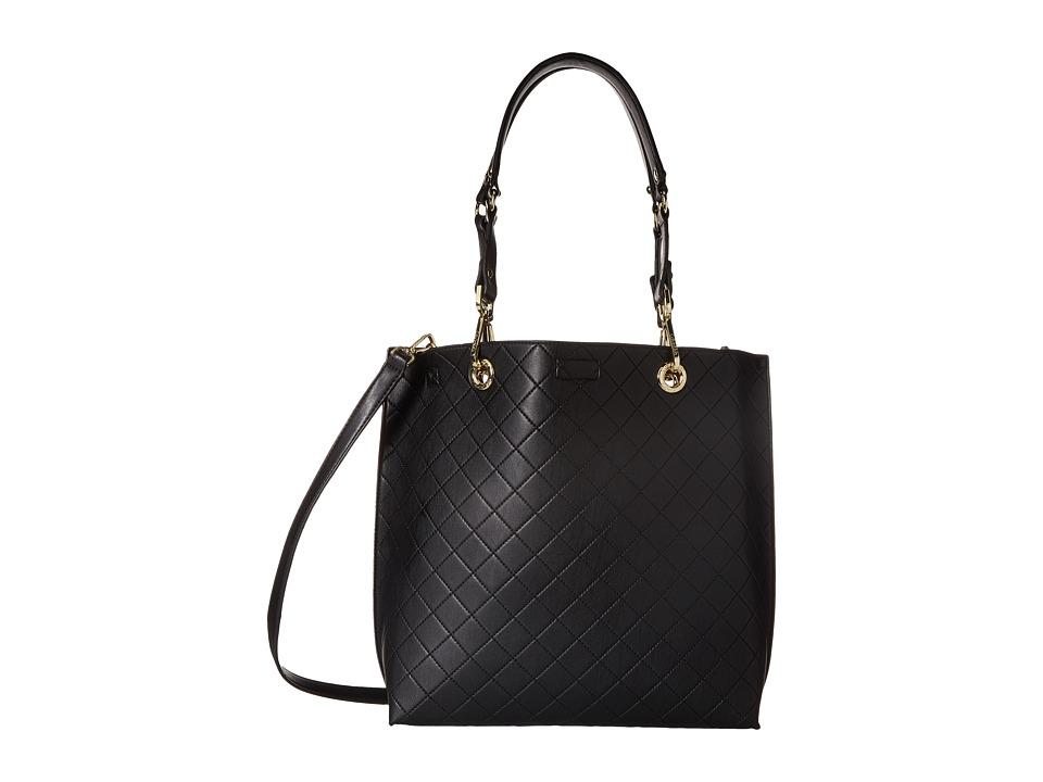 Calvin Klein - Sonoma Quilted Farra Tote (Black/Red Quilt) Tote Handbags