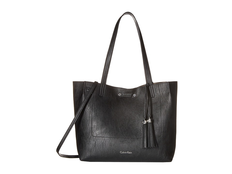 Calvin Klein - Reversibles Pebble Tote (Black/Grey) Tote Handbags