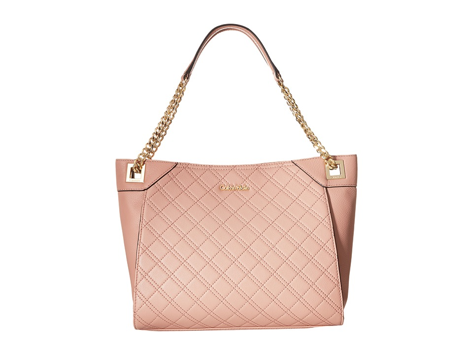 Calvin Klein - Permanent Quilted Pebble Tote (Deep Blush) Tote Handbags