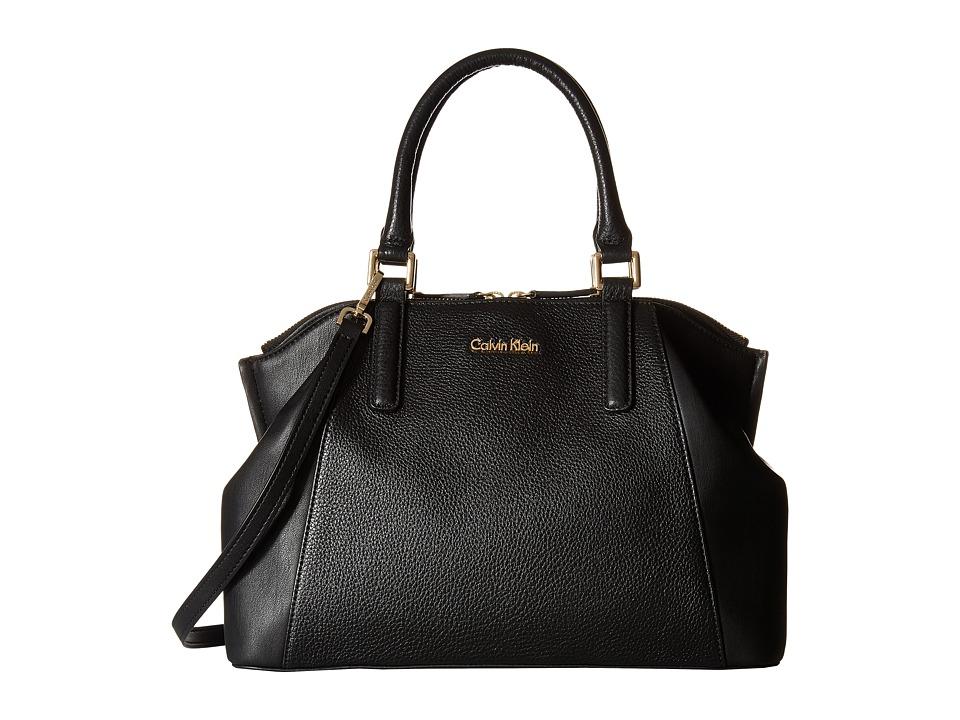 Calvin Klein - Frankie Pebble Satchel (Black) Satchel Handbags
