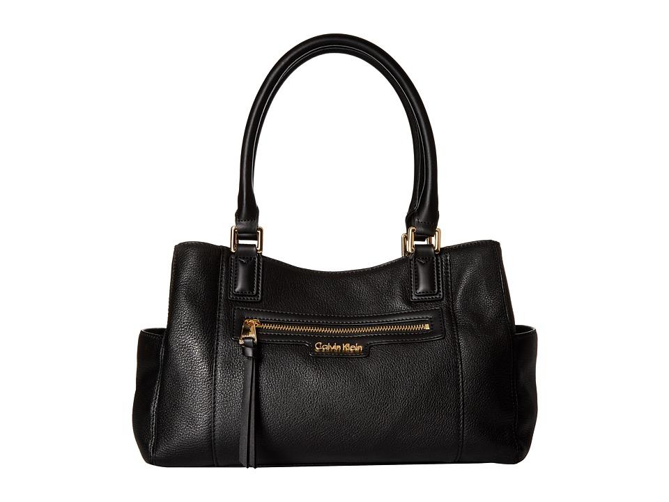 Calvin Klein - Classics Pebble Satchel (Black) Satchel Handbags