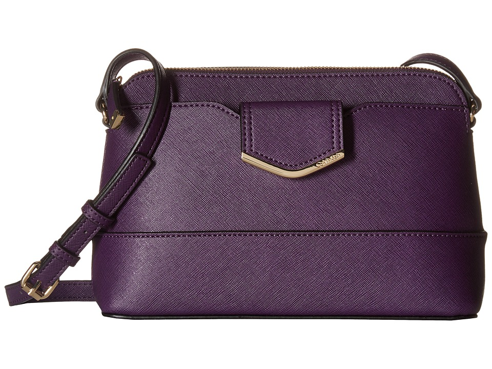 Calvin Klein - Saffiano Crossbody (Acai) Cross Body Handbags