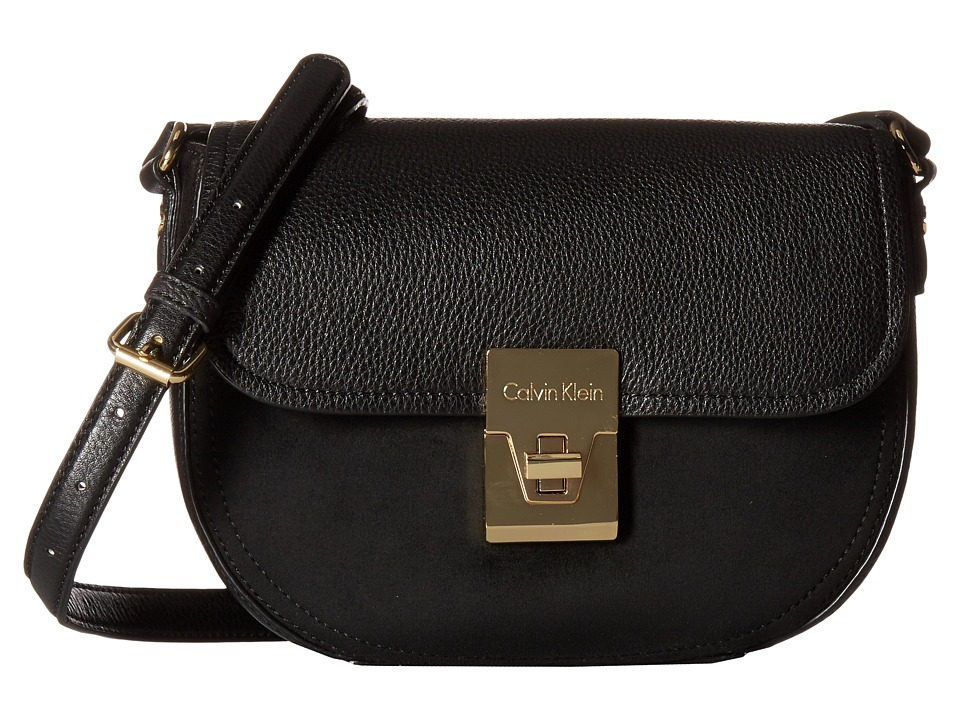 Calvin Klein - Pinnacle Pebble Crossbody (Black/Black) Cross Body Handbags