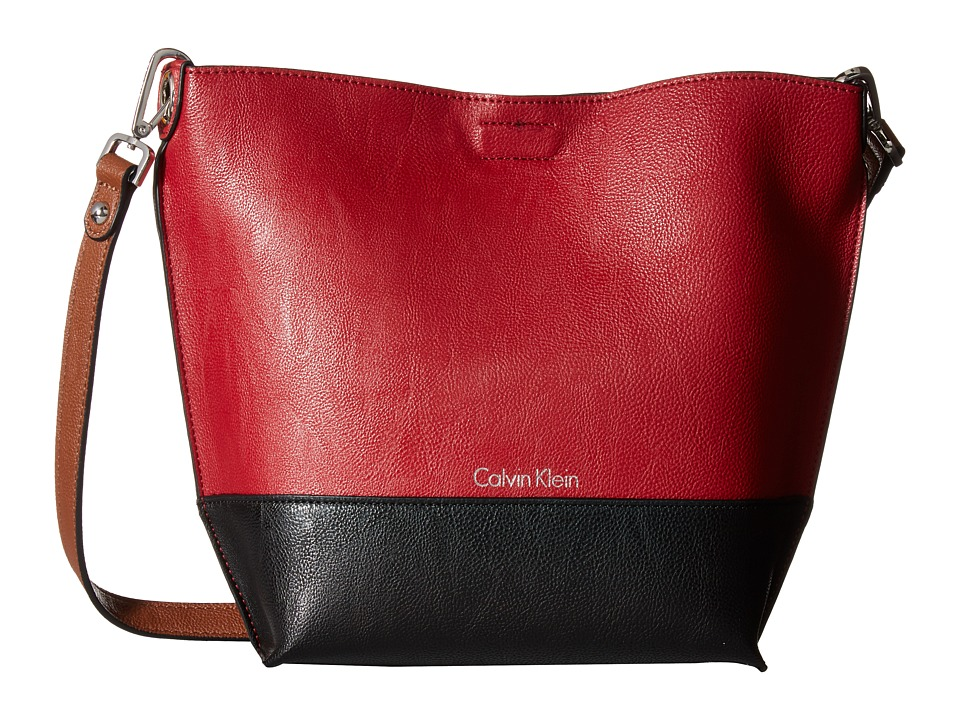 Calvin Klein - Reversible Crossbody (Red/Black/Luggage) Cross Body Handbags