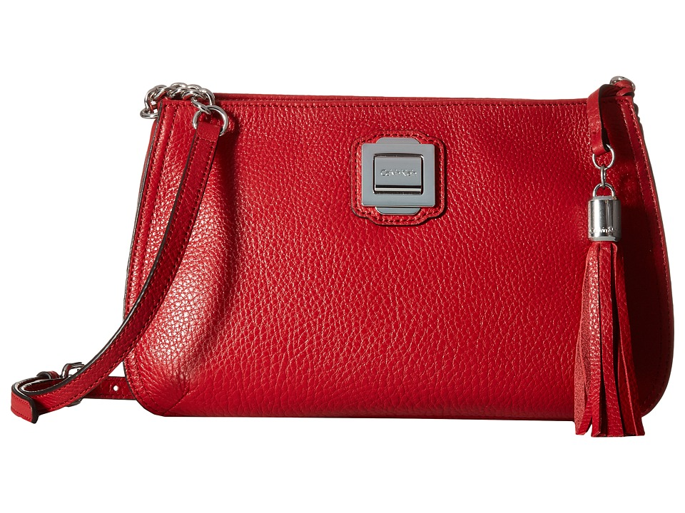 Calvin Klein - Elana Pebble Crossbody (Red) Cross Body Handbags