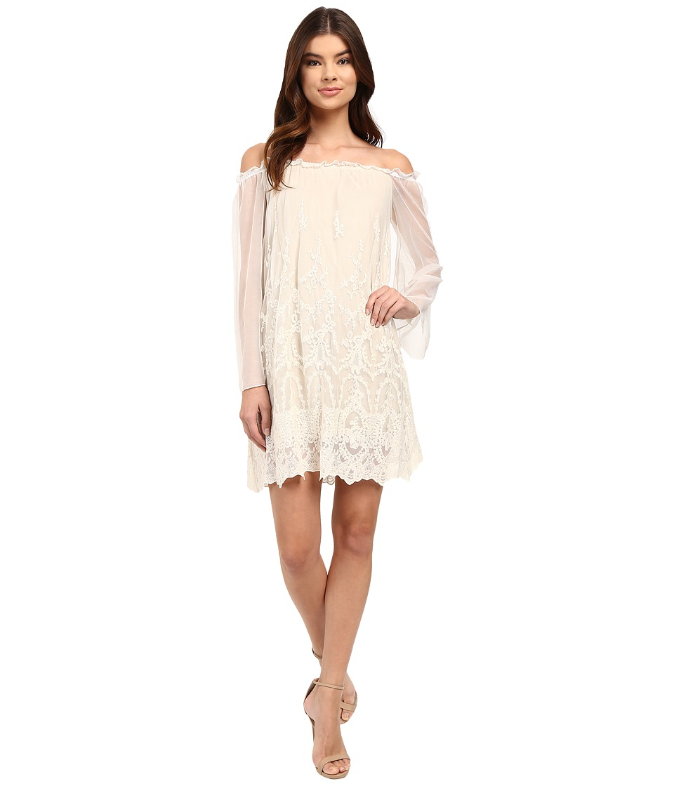 Brigitte Bailey - Chaslee Off the Shoulder Lace Dress (Cream) Women's Dress