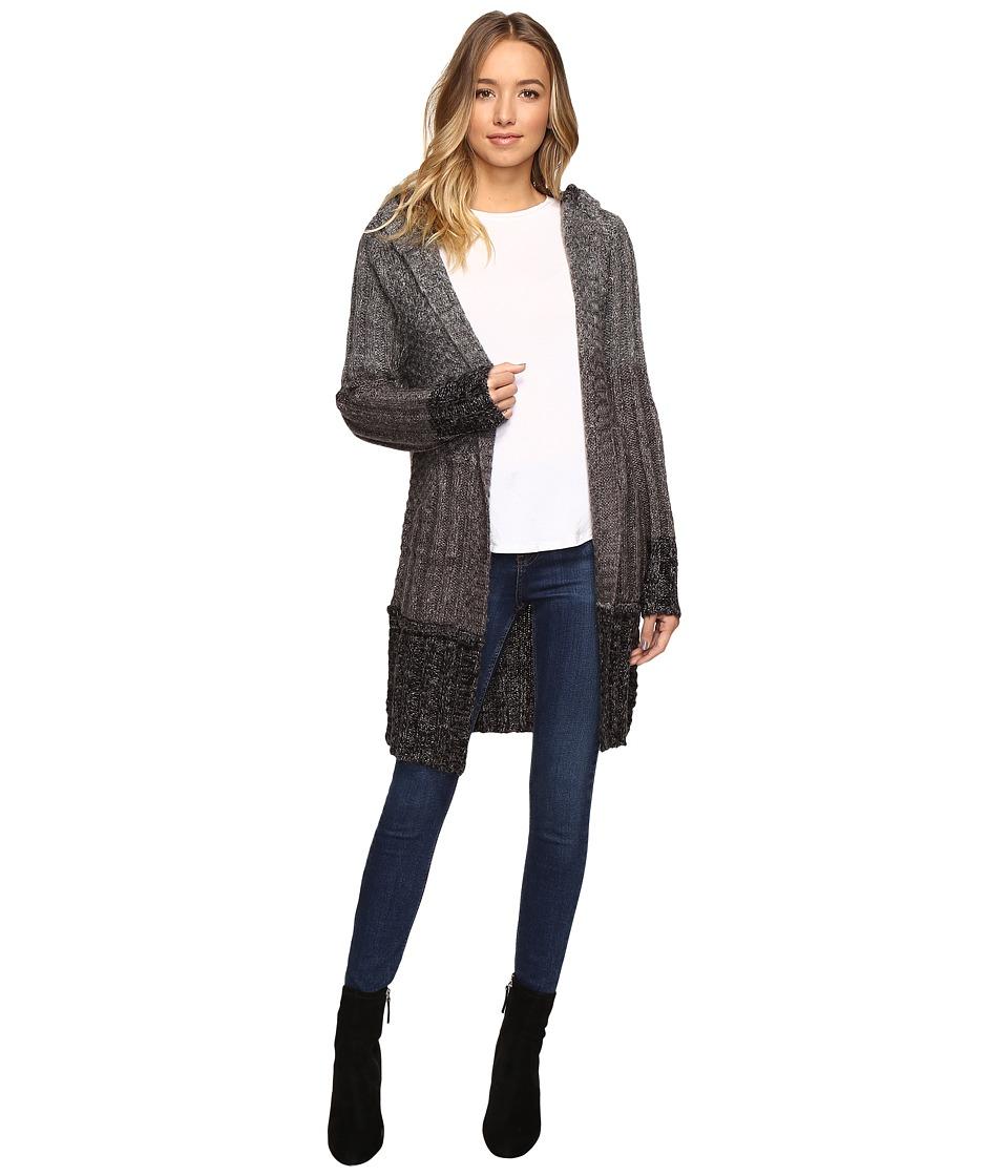 Brigitte Bailey - Willow Long Sleeve Sweater with Hood (Grey) Women's Sweater