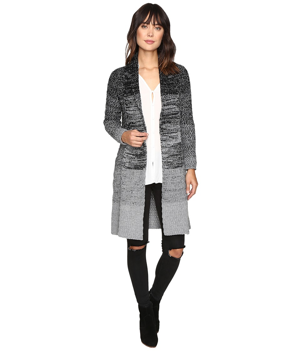 Brigitte Bailey - Azalea Long Sleeve Pocketed Cardigan (Black/Grey) Women's Sweater