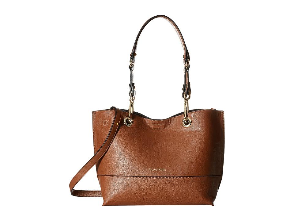Calvin Klein - Sonoma Pebble PVC Shopper (Luggage/Black) Handbags