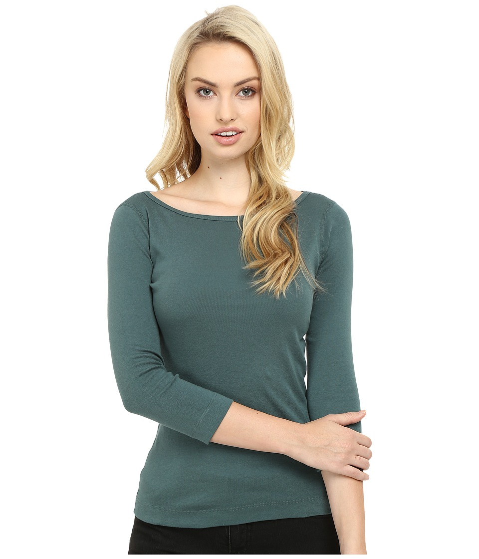 Three Dots - 3/4 Sleeve British Tee (Forage) Women's Long Sleeve Pullover