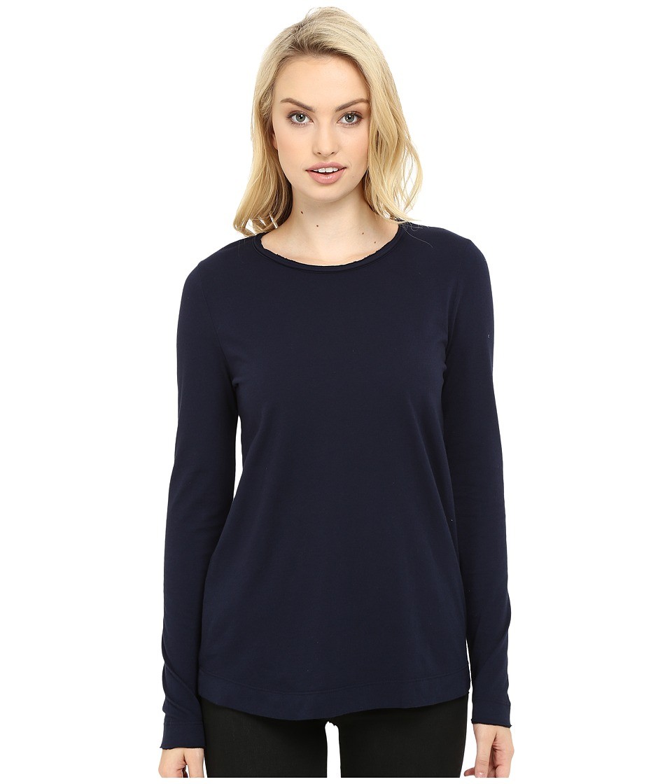 Three Dots - Kale - Long Sleeve Top (Night Iris) Women's Clothing