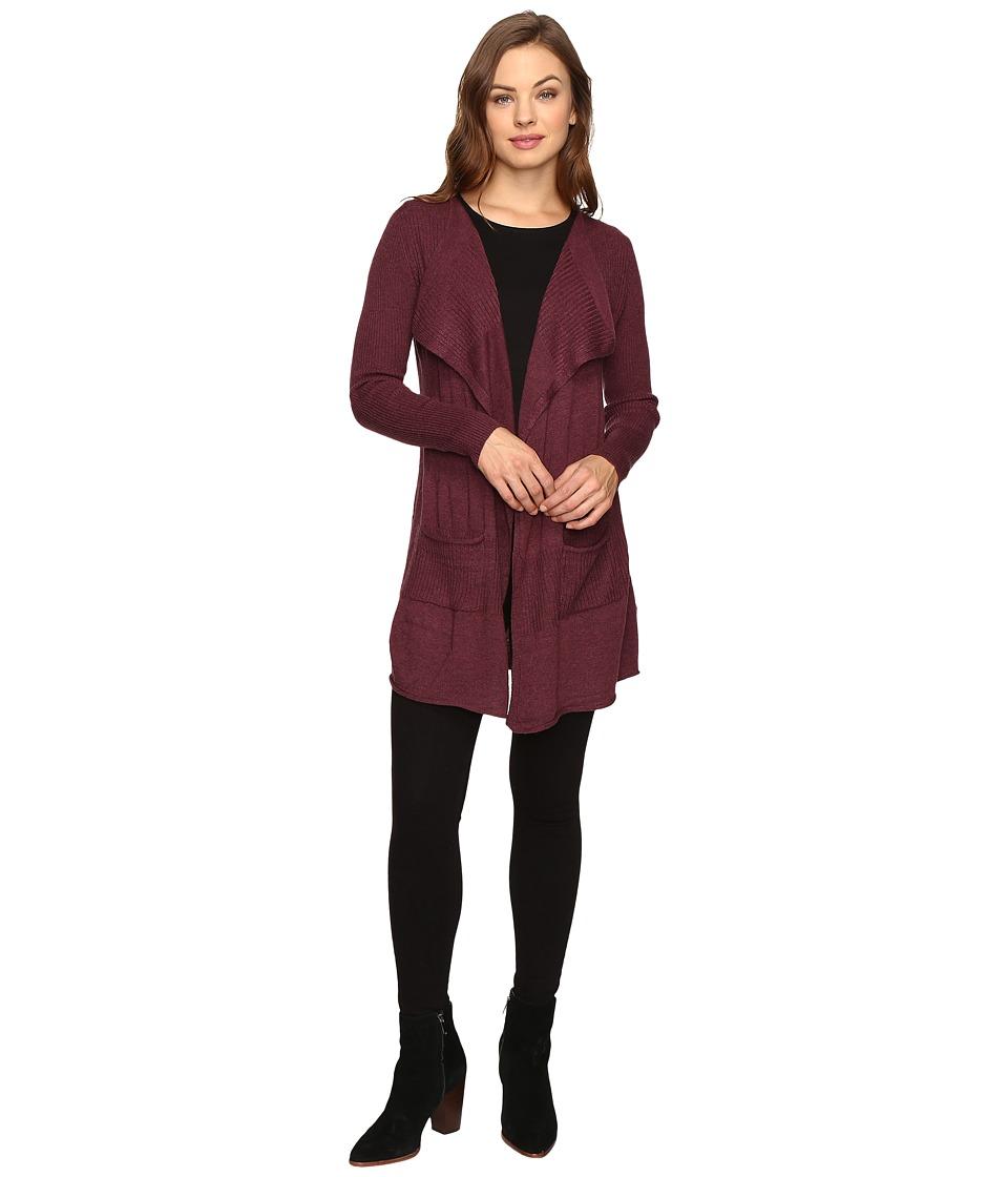 Christin Michaels - Harlyn Long Sleeve Cardigan (Burgundy) Women's Sweater