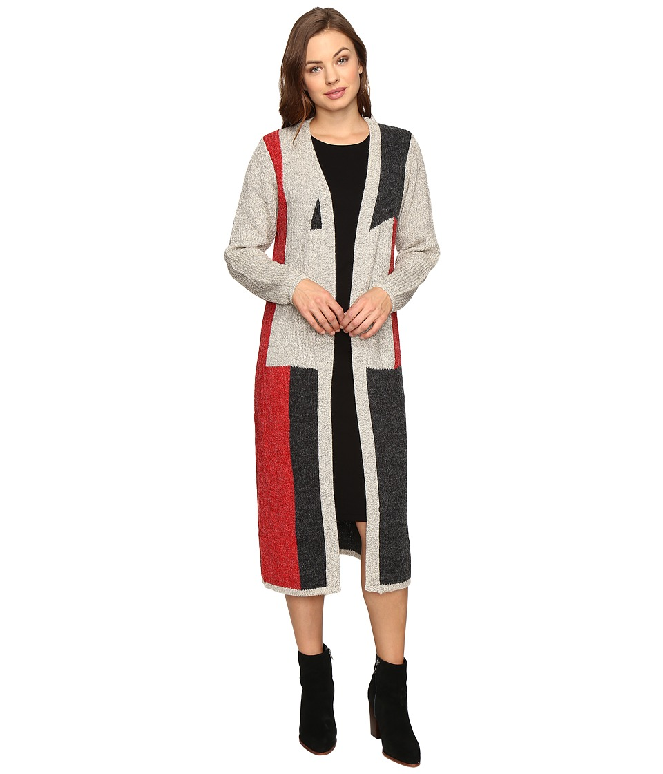 Christin Michaels - Bexley Long Sleeve Color Block Sweater (Beige/Red/Navy) Women's Sweater