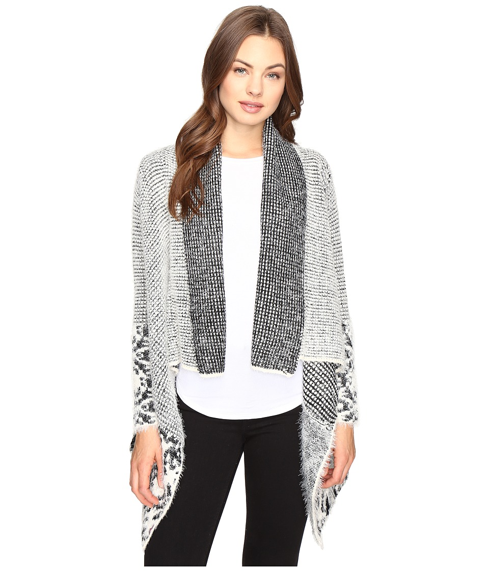 Christin Michaels - Embry Long Sleeve Fuzzy Cardigan (Grey) Women's Sweater